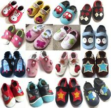 New Soft Sole 100% Leather Baby Infant Boys Girls Shoes Prewalkers Size 0,1,2