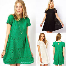 ON SALE~Soft Lace Short Summer Mini Casual Dress Cocktail Evening Party Dresses