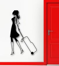 Wall Sticker Vinyl Decal Travel Tourism Sexy Girl Airport Decor (ig1884)