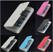 Fashion Magnetic Flip Leather Hard Skin Pouch Cover Case For Apple Iphone 4/4s