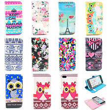 Flip PU Leather Slot Credit Card Stand Cover Wallet Case For iPhone 6 6Plus 5S 4