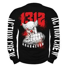 Pullover Sweatshirt ACAB 4 ever joker fuck you 1312 anti rebell hip rap hool kc
