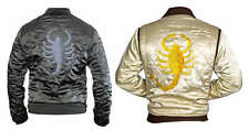 Bomber Rider Motorbike Slim Fit Drive Truck Scorpion Stylish Satin Jacket