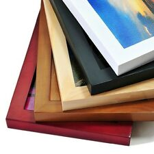 """""""Easy Life"""" Modern Tabletop Wood Picture Photo Frame 5 Sizes 9 Colors Available"""