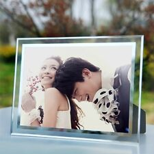 """""""Crystal Baby"""" Modern Glass Tabletop Picture Frame Wedding Photo Frame 5 Sizes"""