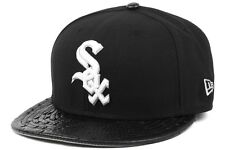 New Era Reptile Mix MLB Team Chicago White Sox Mens Black Strapback Caps Hats