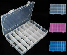 24 Cells Storage Box Case For Rainbow Loom Kit Rubber Bands Charms Clips Hook