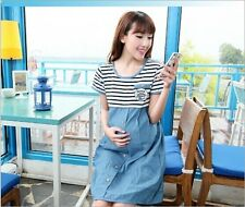 2014 new summer fashion short sleeve stripe cotton dress for pregnant women