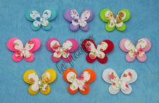 """U PICK COLOR~ 1-3/8"""" 2-Layer Butterfly Appliques Girls Clippies Headbands #2637"""