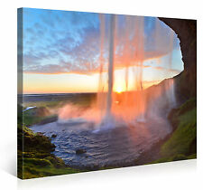 Stretched Canvas Print - SUNSET CURTAIN CALL  Large Waterfall Wall Art s3788