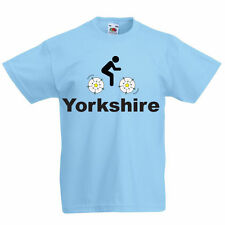 YORKSHIRE - Cycling / Rose / County / Biking / Tour Children's Themed T-Shirt