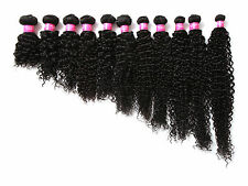 """Curly Wave 10""""-30"""" Grade 6A MALAYSIAN Virgin Hair Extensions(1 PC to Choose) Hot"""