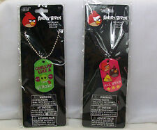 Angry Birds Ball Chain & Dog Tag Necklace Differant Styles You Pick *New