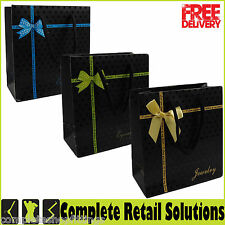 NEW SMALL GIFT PAPER BAG ROPE HANDLE JEWELERY BAG FASHION CARRIER BAG
