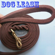 Leather Pet Dog Training Leash lead Braided Cow leather lead long strong new
