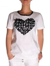 WOMAN T-shirt PLEASE JEANS M526D026 MADE ITALY COTTON SHORT SLEEVE SHIRT