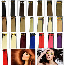 """New16""""18""""20""""22""""26""""L Remy Keratin Nail Tip Genuine Human Hair Extensions,100S&50g"""