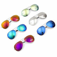 MENS LADIES DESIGNER MIRRORED AVIATOR SUNGLASSES SHADES FULL UV400 FREE CASE!!