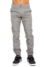 Mens Grey Jogger Heft Brand Signature Khaki Twill Pants