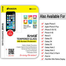 AMZER KRISTAL TEMPERED GLASS HD SCREEN PROTECTOR GUARD FOR PHONE & TABLET