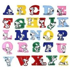 "(G40) UFS SNOOPY ALPHABET LETTERS 1 5/8"" (4cm) iron on patches Choose letters"