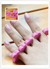 200 pcs Pink Heart Toe Fingers Separators Separators Soft Sponge Foam Salon Tool