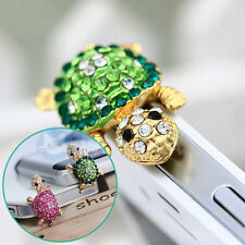 Bling Rhinestone Lovely Turtle Anti Dust Plug Cover Charm for Mobile Cell Phone