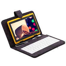 "iRulu Tablet PC 16GB 7"" Android 4.2 Dual Core Cameras Yellow w/ Cartoon Keyboard"
