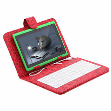 "iRulu Tablet PC 7"" Android 4.2 16GB Dual Core Cameras Green w/ Cartoon Keyboard"