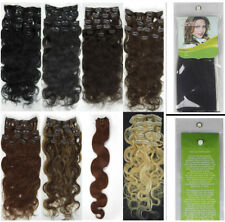 Women Beauty 20inch 8PCS Clip In Body Wavy Remy Human Hair Extensions 100G New