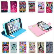 Magnetic Leather Card Holder Wallet Gel Flip Case Cover For iPhone 4 4s 5 5s 5c