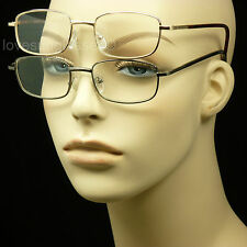 2 PAIR LOT READING GLASSES CLEAR LENS MEN WOMEN NEW MAGNIFY METAL POWER MM44