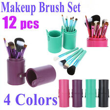 12pcs Women's Professional Wool Makeup Brush Set Cosmetic Tool Kit High Quality