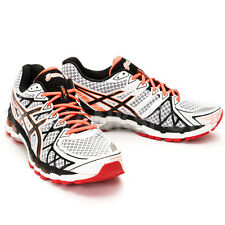 ASICS GEL-KAYANO 20 MENS RUNNING SHOES T3N2N-0199 WHITE-ONXY-RED