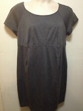 LIZ LANGE MATERNITY CAREER DRESS - GRAY - PLUS SIZE XXL