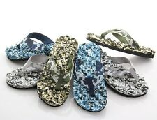 Camouflage Summer Mens Beach Rubber Sole Flip Flops Sandals Massage Slipper