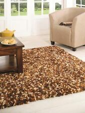 Fondant Truffle Brown Mix Super Soft Thick Pile Shaggy Rug in various sizes