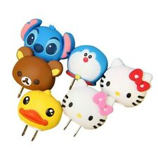 2014 Fashionable Cute 3D Cartoon Silicone Charger with US Plug for Mobile Phones