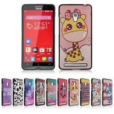 Cool Pattern Printed TPU Rubber+PU Leather Case Skin Cover for Asus ZenFone 6