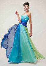 Women Long Prom Strapless Chiffon Dresses Party/Evening/Formal Gowns Cocktail