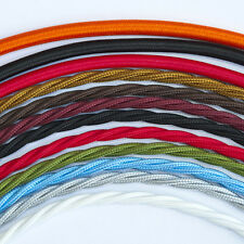 Vintage Style Braided Fabric Cable Three Core Twisted - All Colours