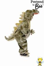 KIDS CHILDRENS DINOSAUR T REX ANIMAL ONESIE FANCY DRESS COSTUME AGE 3 4 5 6 7-9