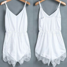 Sexy Women Celeb Lace Chiffon Sleeveless Jumpsuit Rompers Party Playsuit Dresses