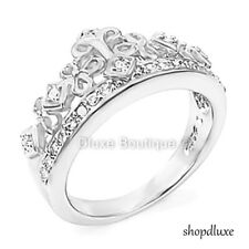 Women's .925 Sterling Silver Queen Royalty Princess Crown Fashion Ring Size 5-9