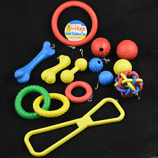 DOG & PUPPY TOYS HARD RUBBER 1 or 5 Toy Pack Wholesale Pet Job lot Ball Ring