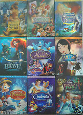 Walt Disney - Animated Dvds - Frozen, Beauty and the Beast, Snow White, Hercules