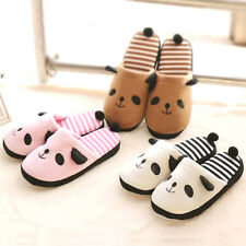 Men women Cute Panda Winter Warm Soft Antiskid Indoor Home Slippers Novelty Gift