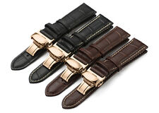 Alligator Grain Leather Watch band Strap 12mm to 24mm  For Hamilton U-Boat