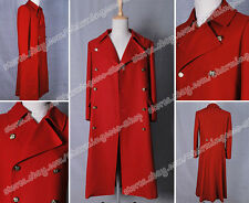 Who Is Dr. The Fourth Doctor Dr 4th Red Wool Movie Trench Coat Cosplay Costume