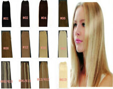 """Hot 30cm/45cm Wide 20/22""""Long 30g/100g Remy 100% Real Human Hair Weft/Extensions"""